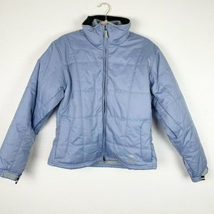 Marker Blue Double Quilted Zip Up Coat Women's 8